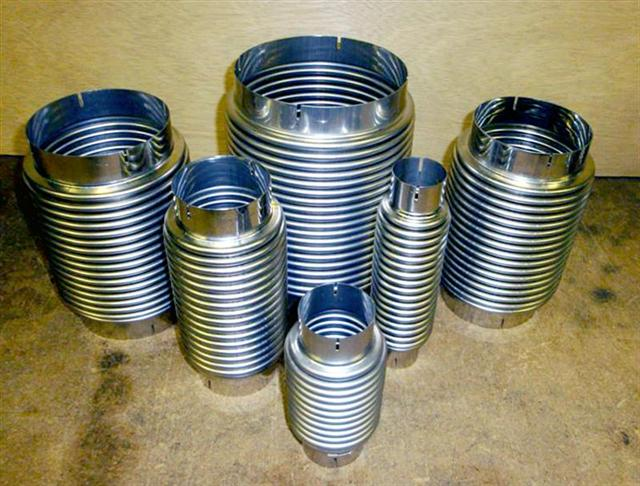 Interflex hose bellows for rubber metallic expansion